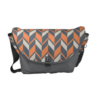 Ethnic Geometric Chevron Pattern Courier Bag
