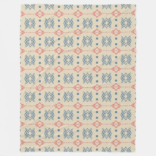 Ethnic Geometric Pattern Fleece Blanket