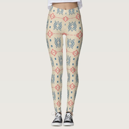 Ethnic Geometric Pattern Leggings