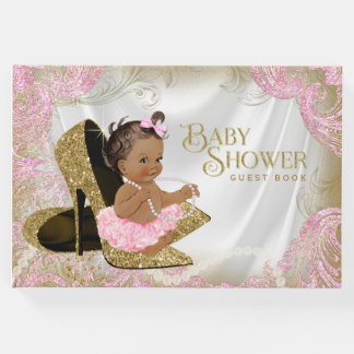 Ethnic Girl Baby Shower Guest Book