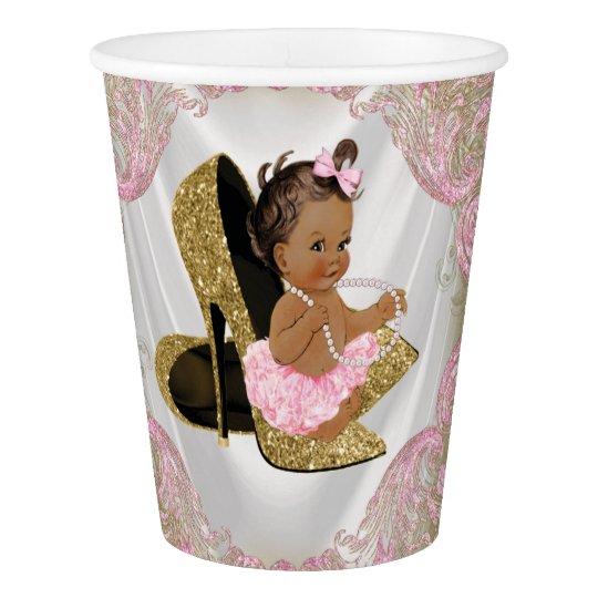Ethnic Girl Pink Gold High Heel Shoe Baby