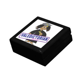 Ethnic Girl Valedictorian Small Square Gift Box