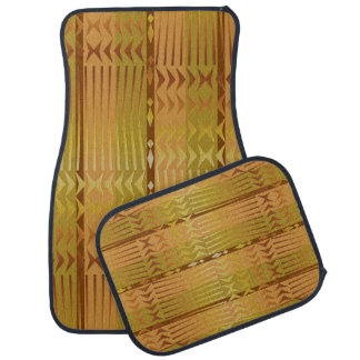 Ethnic golden african geometric pattern. car mat