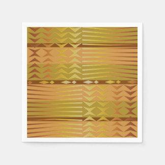 Ethnic golden african geometric pattern. disposable serviette