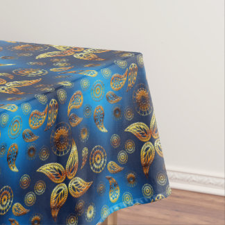 Ethnic golden paisley pattern. tablecloth