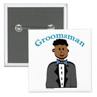 Ethnic Groomsman 15 Cm Square Badge
