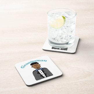 Ethnic Groomsman Drink Coasters