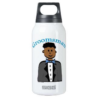 Ethnic Groomsman Insulated Water Bottle