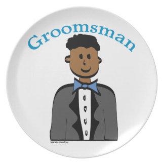 Ethnic Groomsman Party Plates