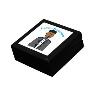 Ethnic Groomsman Small Square Gift Box