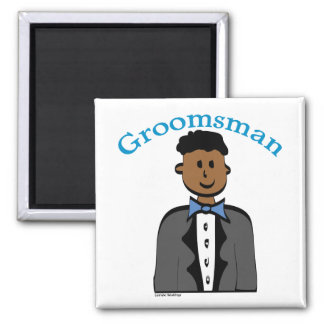 Ethnic Groomsman Square Magnet