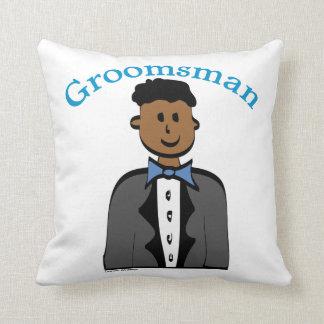 Ethnic Groomsman Throw Pillow