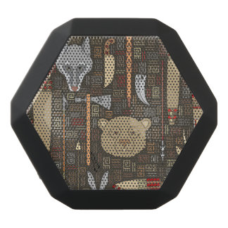 Ethnic Hunting Pattern Black Bluetooth Speaker