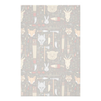 Ethnic Hunting Pattern Stationery