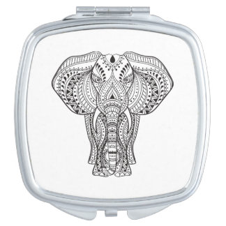 Ethnic Indian Elephant Mirror For Makeup