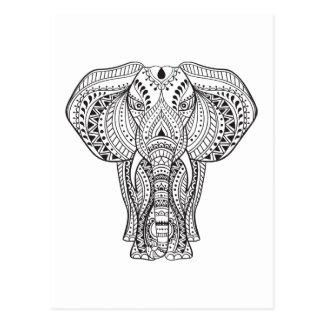 Ethnic Indian Elephant Postcard