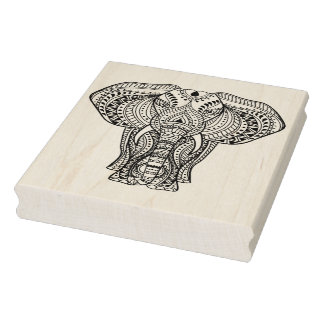 Ethnic Indian Elephant Rubber Stamp