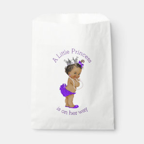 Ethnic Little Princess Baby Shower Purple Favour Bags