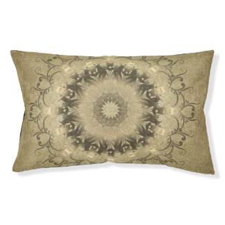 ethnic mandala on grunge background pet bed