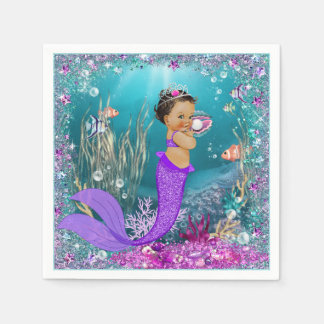 Ethnic Mermaid Baby Shower Napkins Paper Napkin