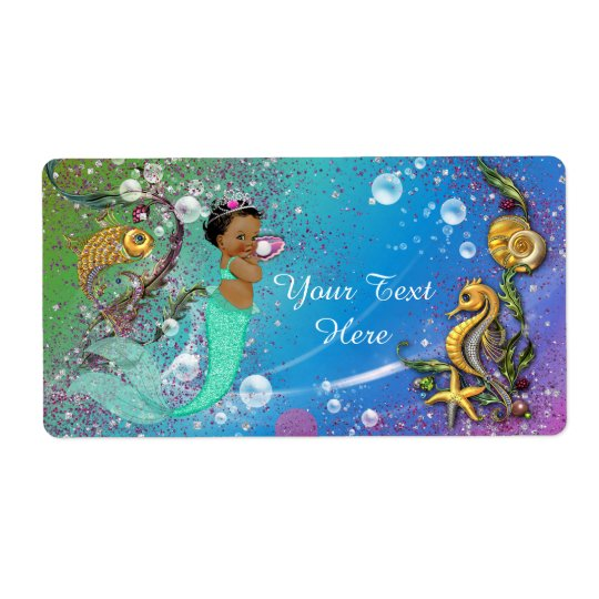 Ethnic Mermaid Under The Sea Water Bottle