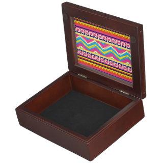 Ethnic Mix Border Pattern Keepsake Box