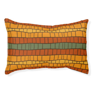 Ethnic modern geometric pattern 2 pet bed