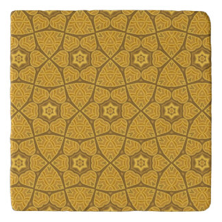 Ethnic modern geometric pattern 2 trivet