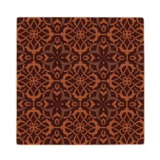 Ethnic modern geometric pattern 2 wood coaster