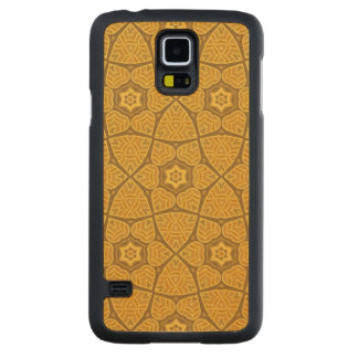 Ethnic modern geometric pattern carved maple galaxy s5 case