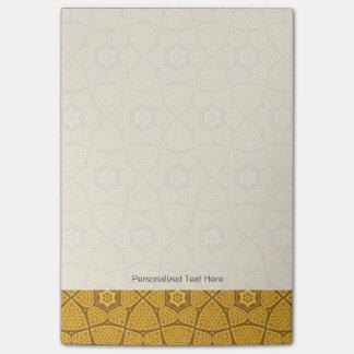 Ethnic modern geometric pattern post-it notes