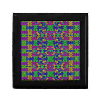 Ethnic Modern Geometric Patterned Small Square Gift Box