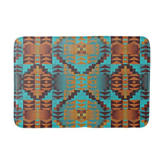 Ethnic Native American Indian Tribal Pattern Bath Mat