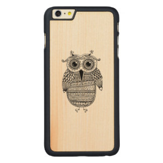 Ethnic Owl Ink Drawing Carved® Maple iPhone 6 Plus Case