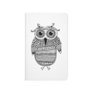 Ethnic Owl Ink Drawing Journal