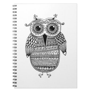 Ethnic Owl Ink Drawing Notebooks