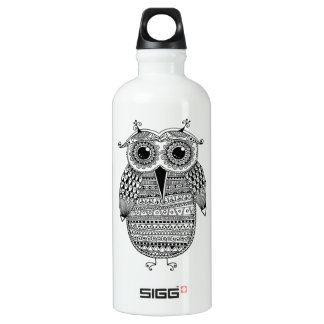 Ethnic Owl Ink Drawing SIGG Traveller 0.6L Water Bottle
