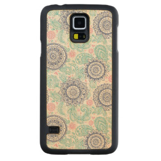 Ethnic Paisley Pattern Carved Maple Galaxy S5 Case