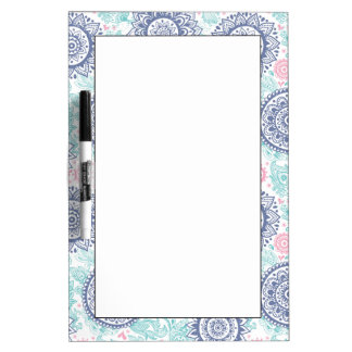 Ethnic Paisley Pattern Dry Erase Board