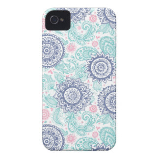 Ethnic Paisley Pattern iPhone 4 Cases