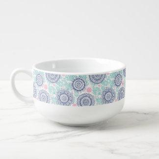 Ethnic Paisley Pattern Soup Mug