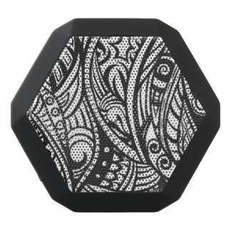 Ethnic pattern 3 black bluetooth speaker