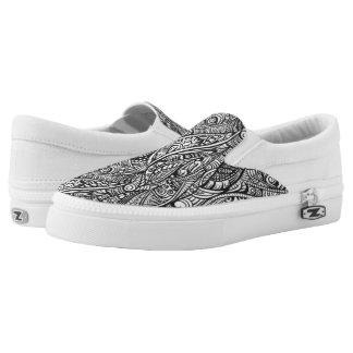 Ethnic pattern 3 Slip-On shoes