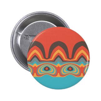 Ethnic pattern 6 cm round badge