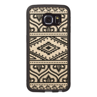 Ethnic Pattern Design Wood Phone Case