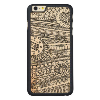 Ethnic Pattern Doodle Carved Maple iPhone 6 Plus Case