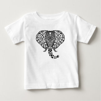 Ethnic Pattern Elephant Baby T-Shirt