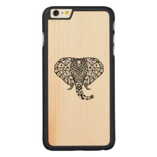 Ethnic Pattern Elephant Carved Maple iPhone 6 Plus Case