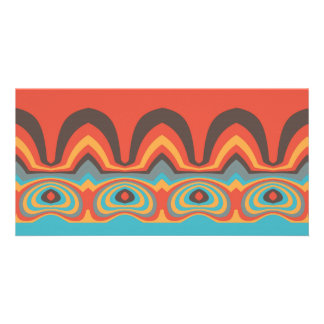 Ethnic pattern personalised photo card