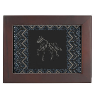 Ethnic pattern with american ornament memory box